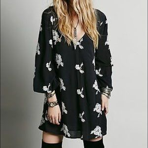 Free People Embroidered Austin Mini Dress
